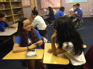 Engaged students in our first annual Book Talk Day.