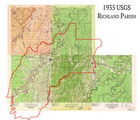 Alto, LA, 1:62,500 quad, 1935, USGS