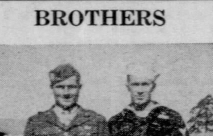 Vickers Brothers of Mangham Serving in Europe Cross Paths. WWII 1945