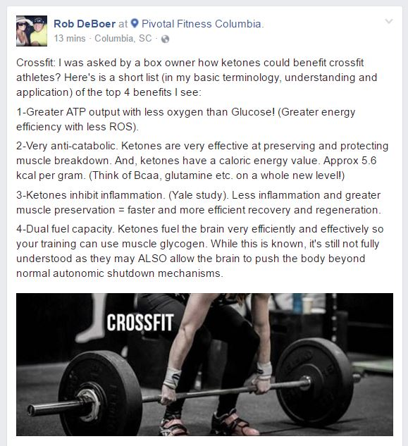 Crossfit And Ketones