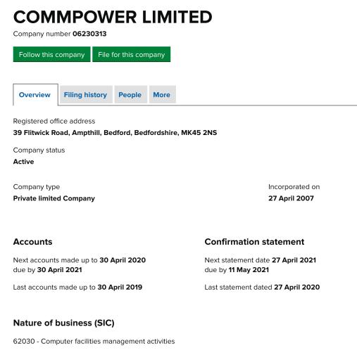 commpower registration