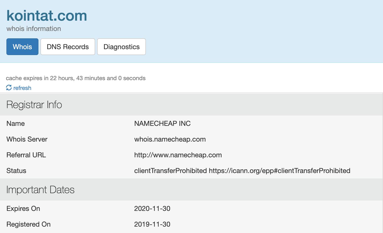 Kointat domain