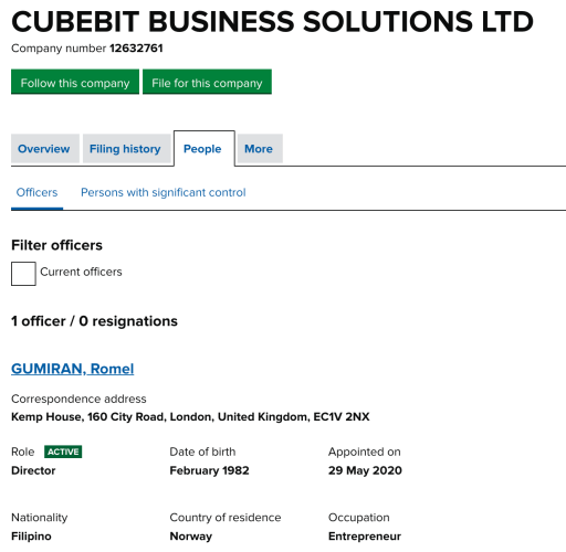 CubeBit registration