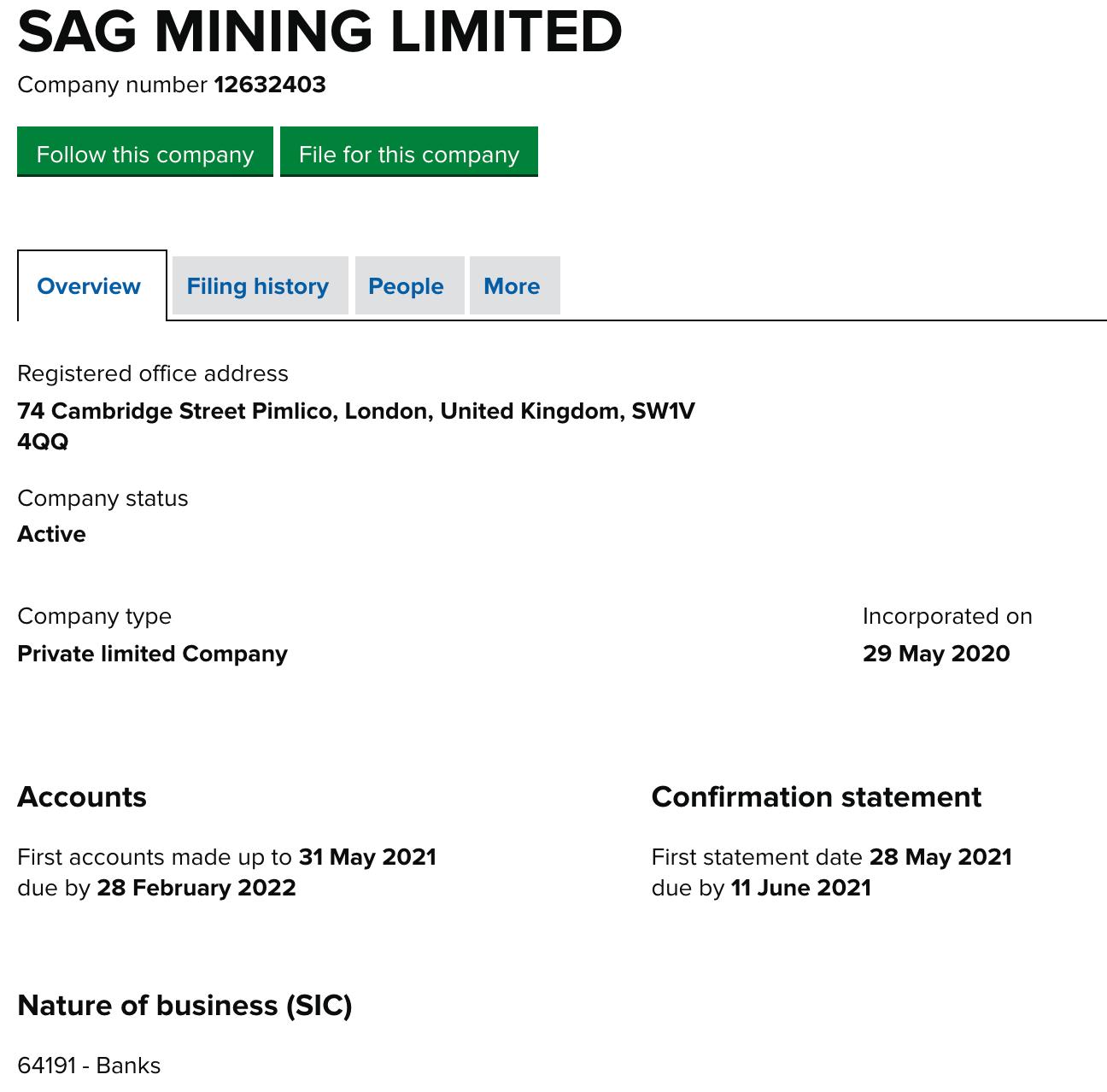 SagMining Review registration