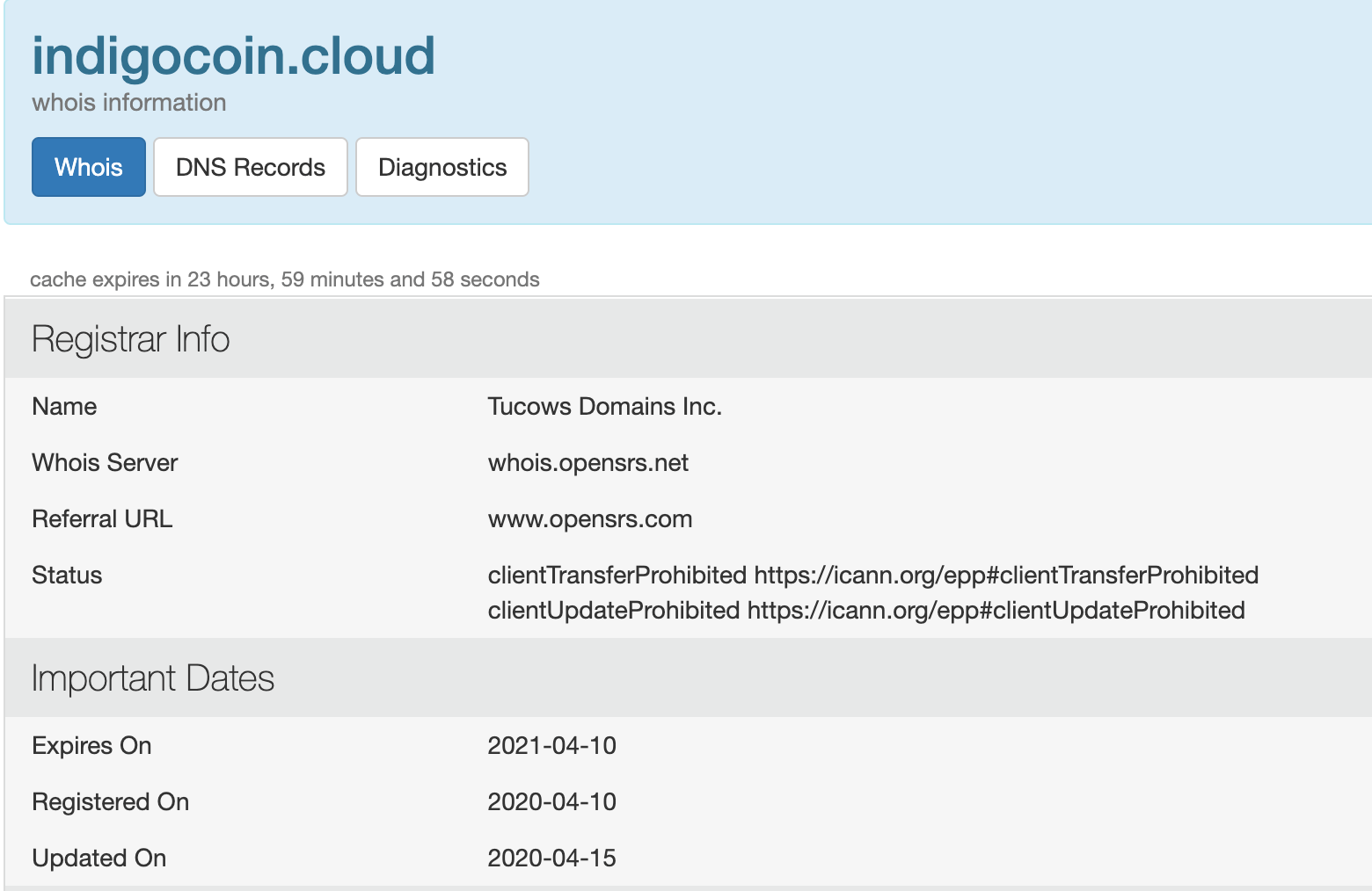 IndigoCoin Review domain