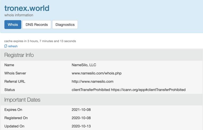 Tronex world domain