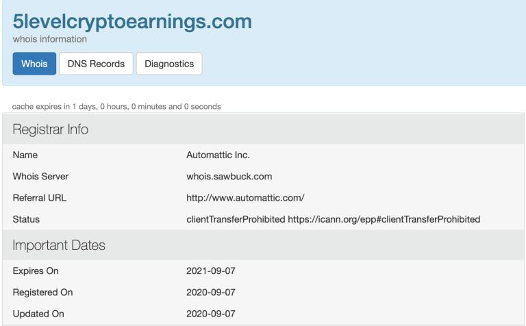 5level crypto earnings domain