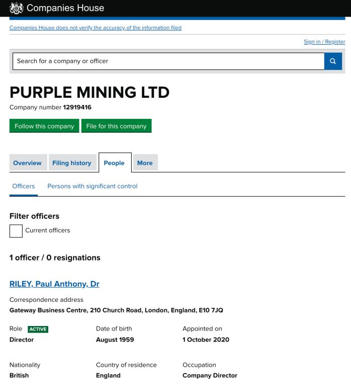 Purple Mining Owner