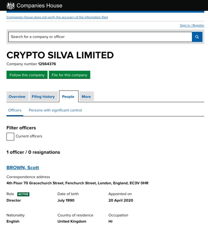 Crypto Silva owner