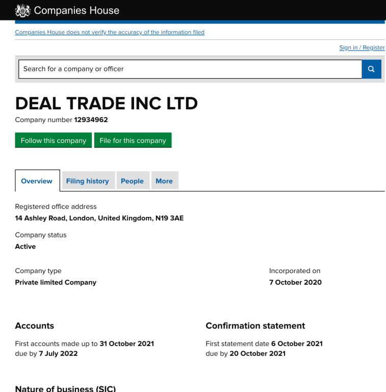dealtrade INC LTD