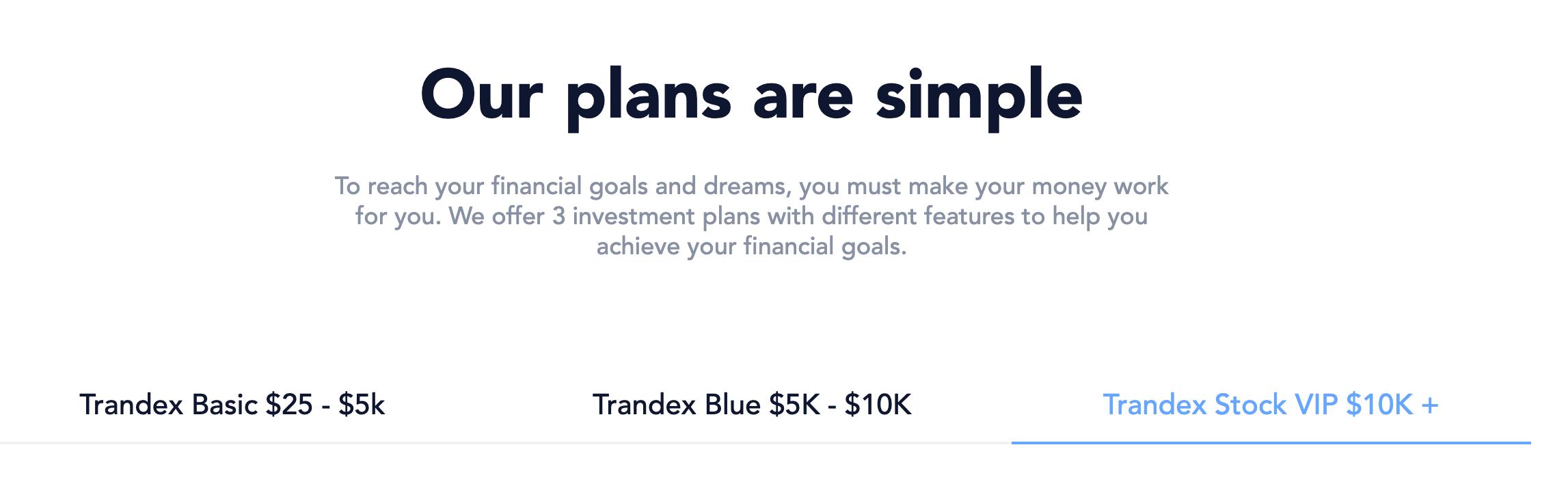 Trandex plans