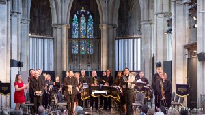 Richmond Brass Band at The Landmark Arts Centre. Image credit: Robin Narayan