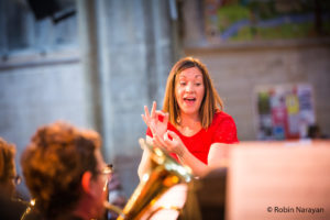 Vickie van Uden conducts Richmond Brass Band