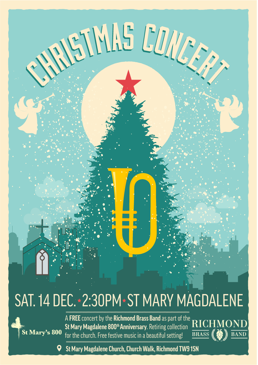 Poster for a Christmas concert