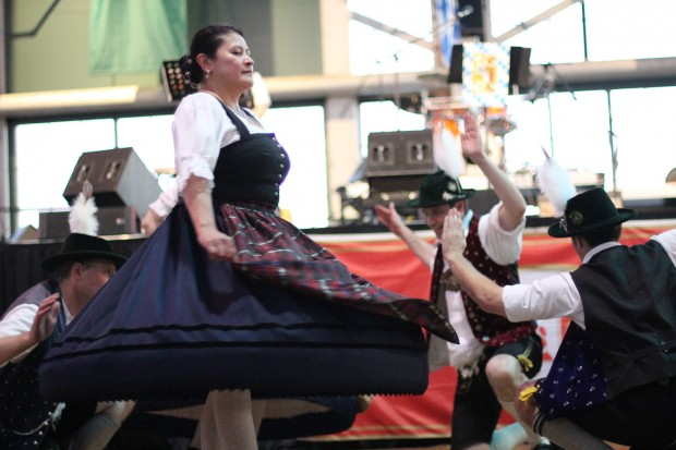 The Golden Gate Bavarian Club wowed with traditional costumes and energetic dance moves (Photo: Sarah Phelan).