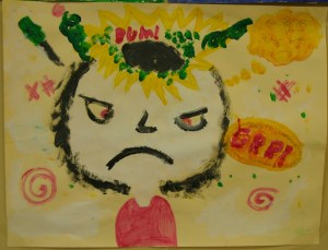 angry painting