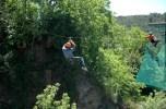 Alex's dad on zipline