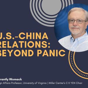 U.S.-China Relations: Beyond Panic
