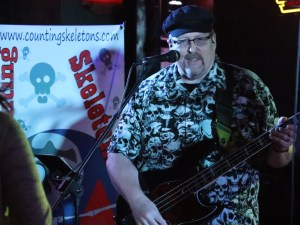 image of Rich on stage with his bass