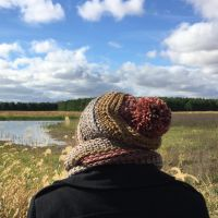 Ginger Spice Slouch Hat and Cowl Set - A Free Pattern!
