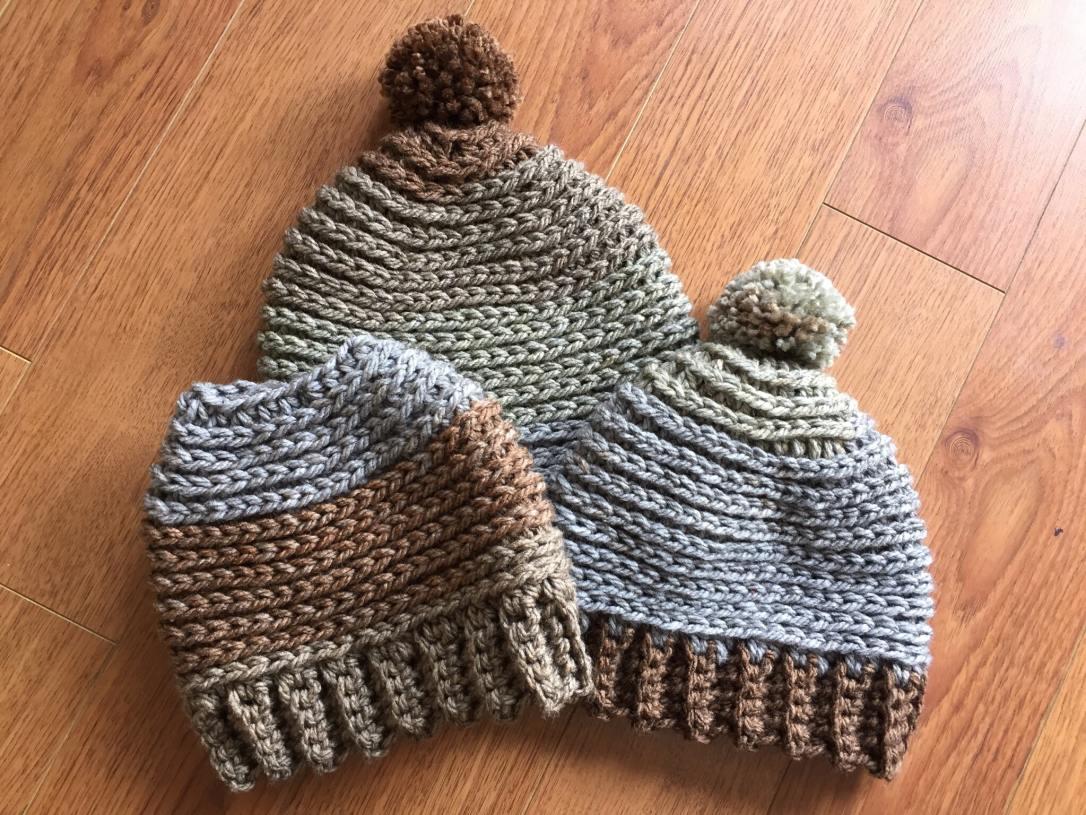 Bulky weight yarn hat