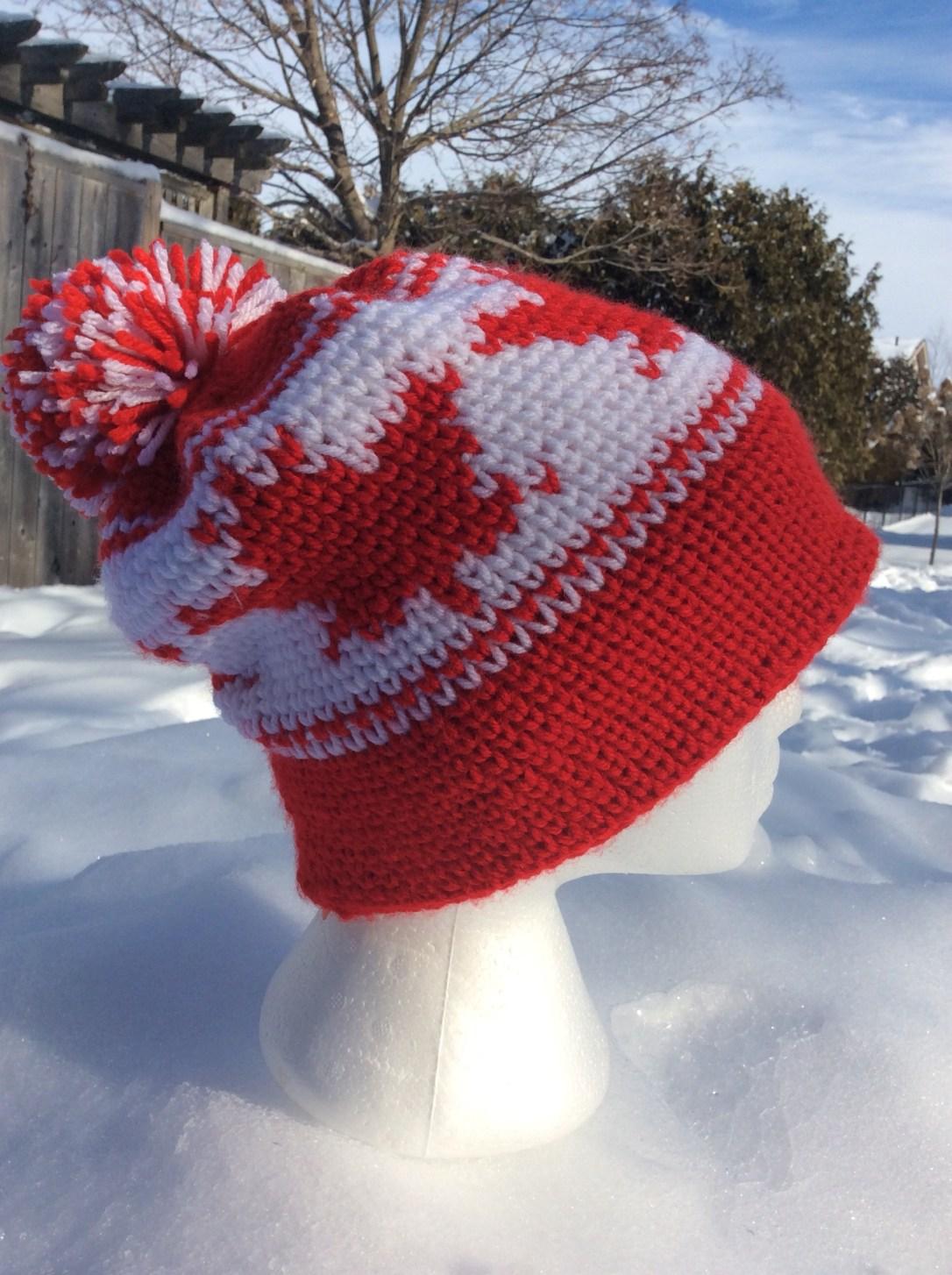 Crochet Maple Leaf Hat