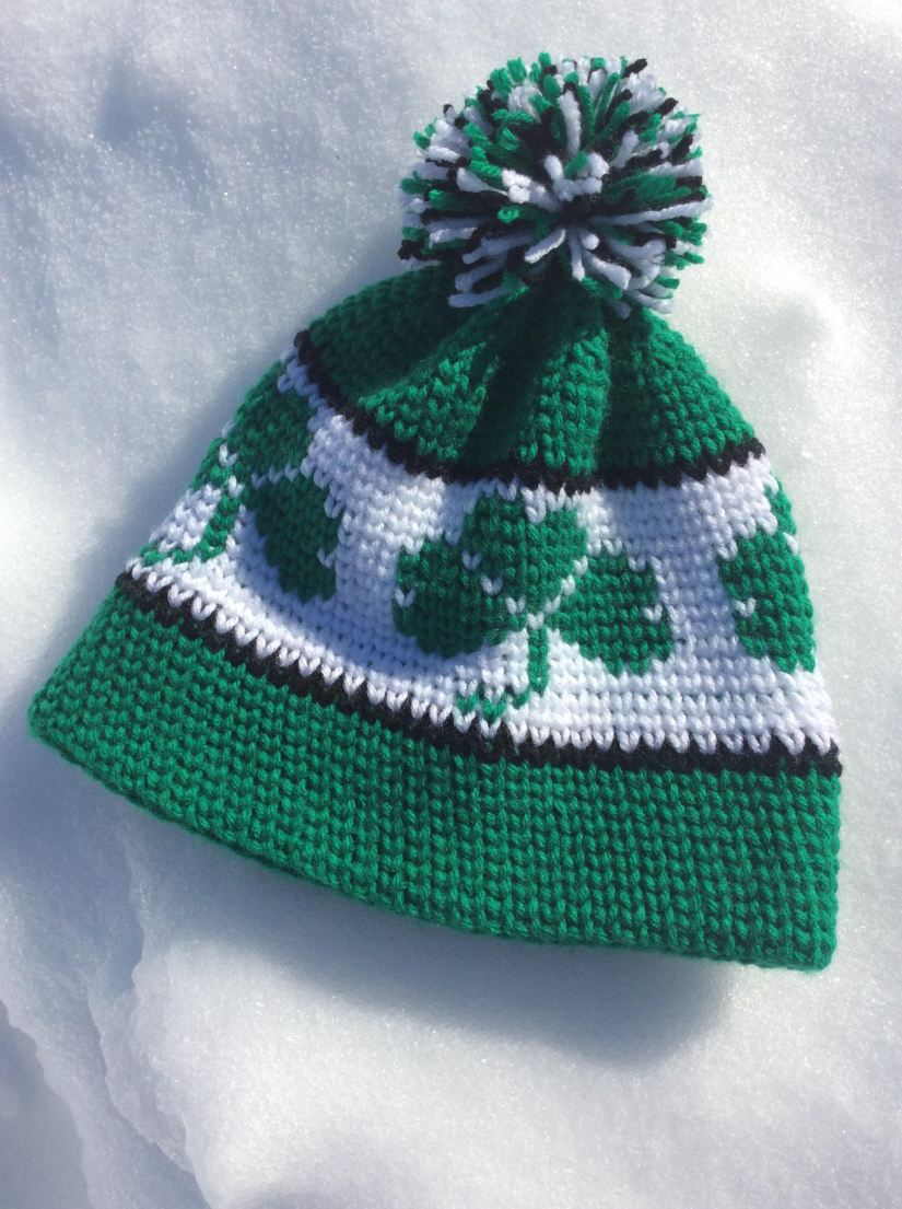 Shamrock toque hat a free crochet pattern similar to my maple leaf toque found here this hat is worked in the knit stitch also known as the waistcoat stitch this is what gives the hat a knit dt1010fo