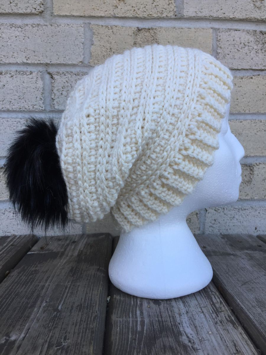 Snowy Day Toque, Messy Bun and Slouch Hat - A Free Crochet Pattern