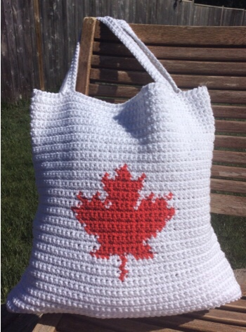 maple leaf tote