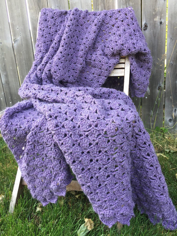 crochet clover meadows throw