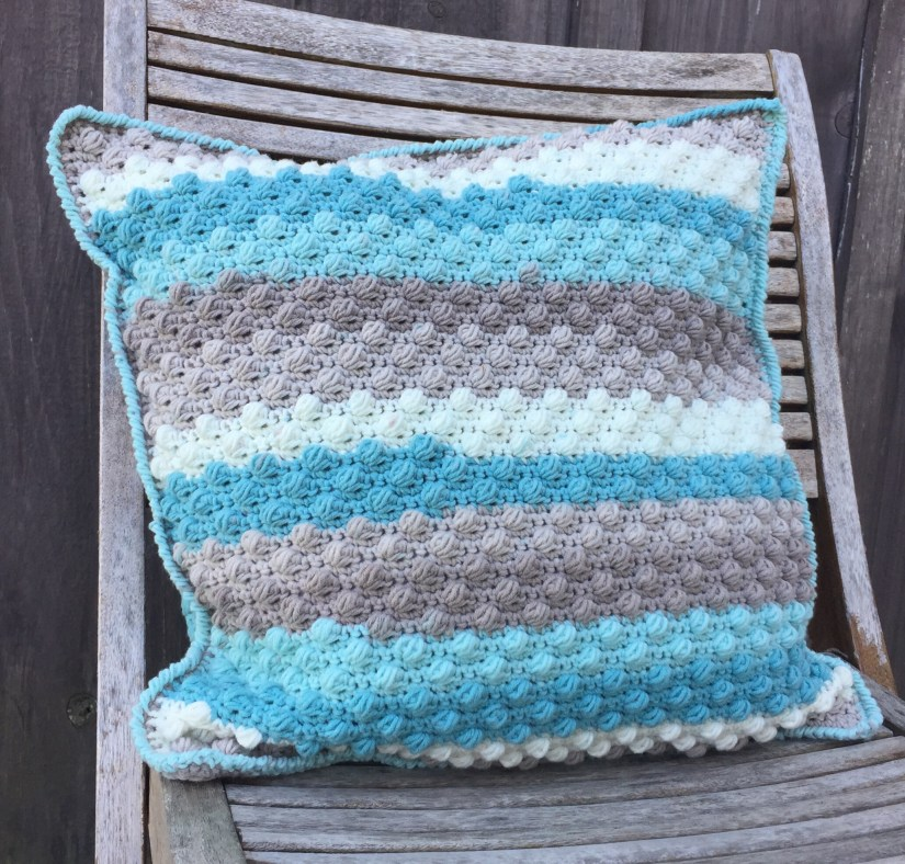 Beach Glass Throw Pillow A Free Crochet Pattern Rich Textures