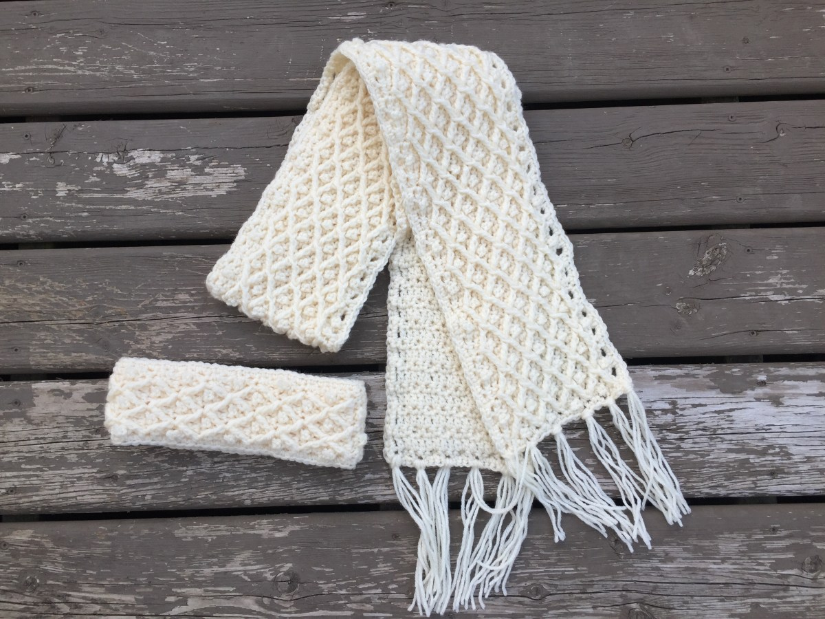 Diamond in the Rough - Crochet Winter Scarf Pattern