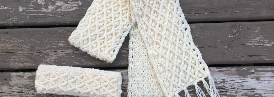 Diamond In The Rough Crochet Winter Scarf Pattern Rich Textures