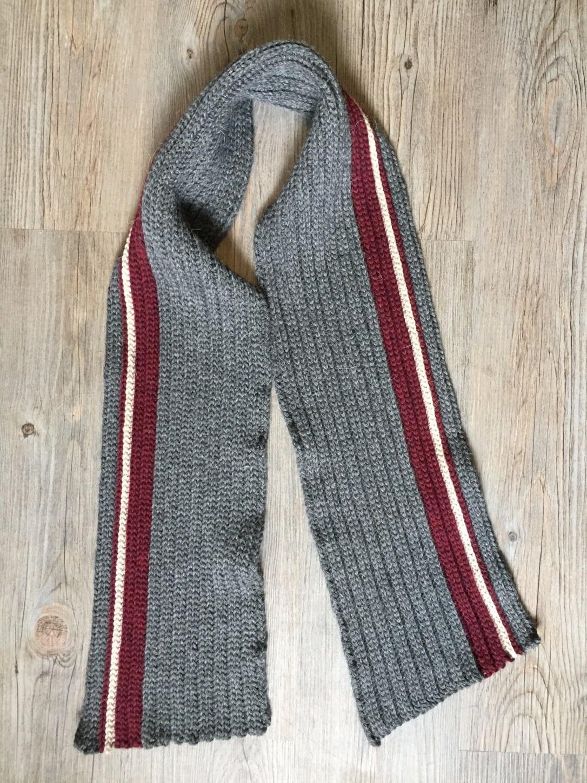 Men's Classic Crochet Scarf