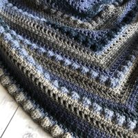 Stormy Seas Crochet Triangle Shawl