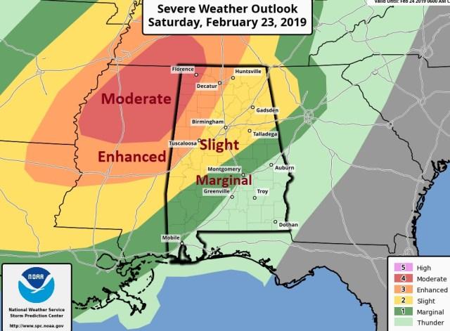 SATURDAY UPDATE: Dangerous Severe Threat Northwest Half of