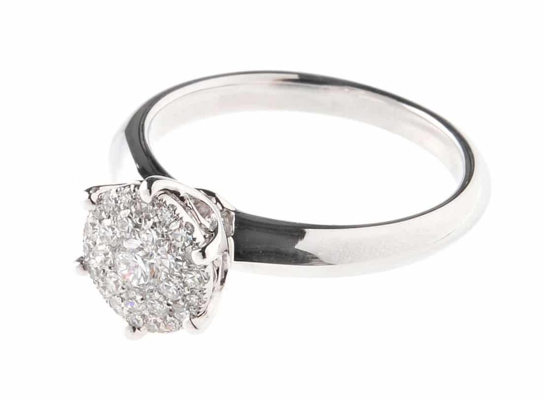 Verlobungsringe Silber 925 Von Amoonic Mit Swarovski Zirkonia Ring