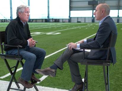 pete carroll talks about super bowl xlix with matt lauer