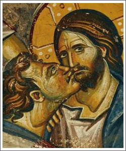 judas kissing jesus betrayal
