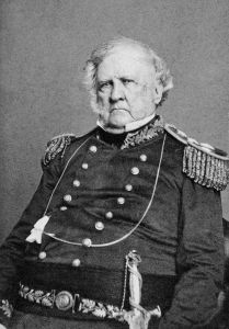 winfield scott ten years after losing presidential election to franklin pierce