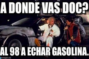 a back to the future gasolinazo meme