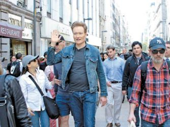 conan walking around in mexico city