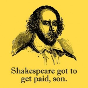 shakespeare using modern english and referring to himself in the third person.