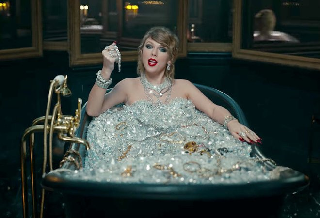 taylor swift bathing in diamonds from the look what u made me do video
