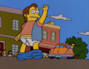 nelson getting his comeuppance on the simpsons