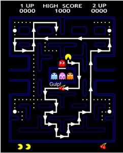 pattern for the cherry maze in pac man