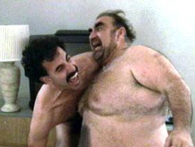 the naked wrestling scene in borat