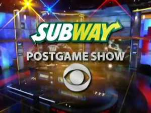 a postgame show brought to u by subway--postgame show, idioms