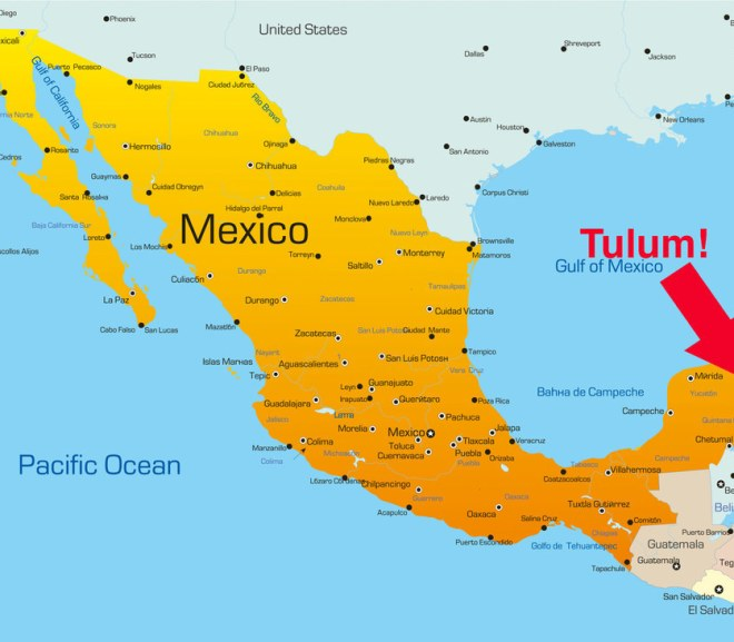 map-of-mexico-with-a-big-arrow-pointing-to-tulum-vocabulario-en-inglés