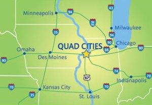 map of the midwest that shows quad cities vocabulario en inglés